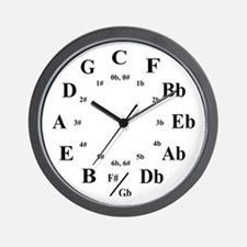 """Circle of Fifths"" Wall Clock"