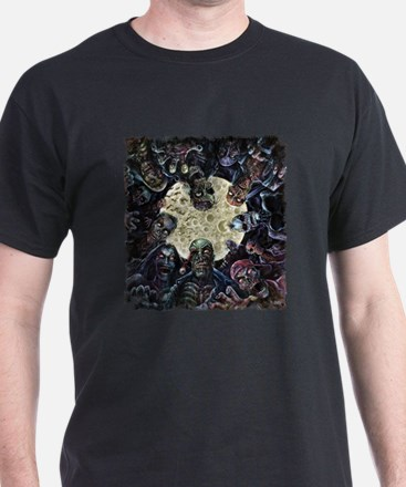 Zombies Full Moon Attack T-Shirt