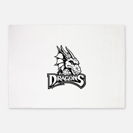 Dayton dragon head design 5'x7'Area Rug