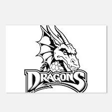 Dayton dragon head design Postcards (Package of 8)