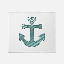 Heart Anchor Throw Blanket