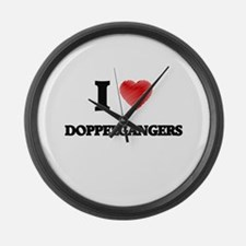 I love Doppelgängers Large Wall Clock