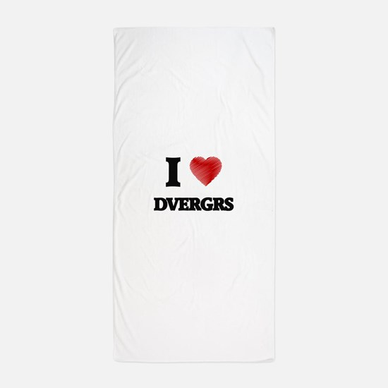 I love Dvergrs Beach Towel