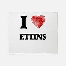 I love Ettins Throw Blanket