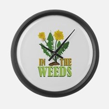 In The Weeds Large Wall Clock