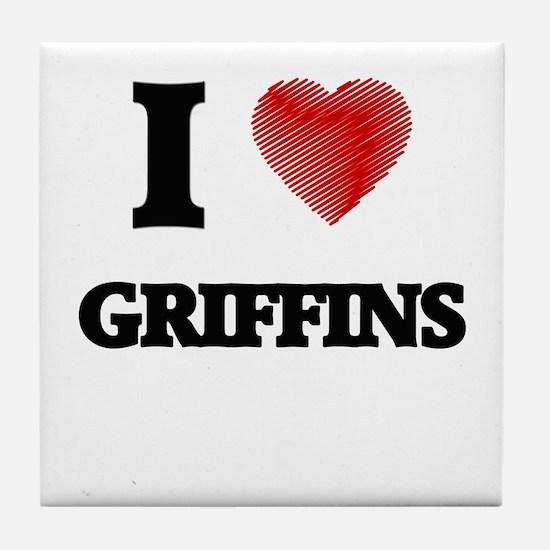 I love Griffins Tile Coaster