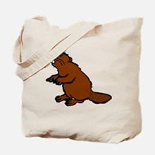 Brown Beaver Tote Bag