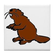 Brown Beaver Tile Coaster