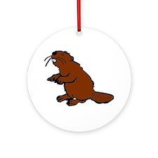 Brown Beaver Ornament (Round)