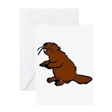 Brown Beaver Greeting Card