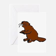 Brown Beaver Greeting Card