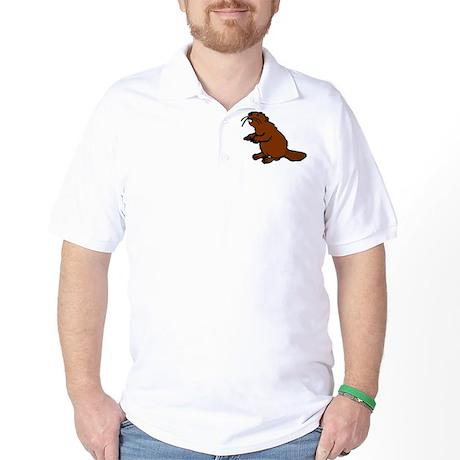 Brown Beaver Golf Shirt