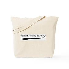 Airport Security Worker (vint Tote Bag