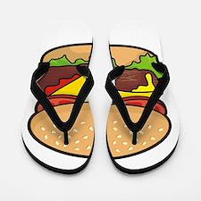 Cheeseburger Flip Flops