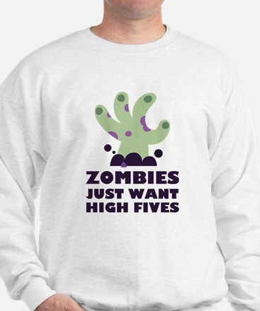 Zombies Just Want High Fives Sweater