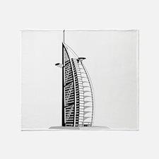 Skyscraper city Burj al arab Throw Blanket
