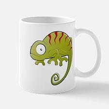 Chameleon cartoon art Mugs