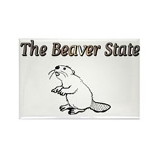 The Beaver State Rectangle Magnet