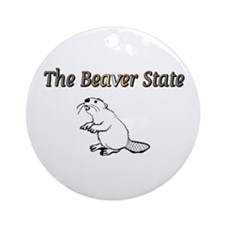 The Beaver State Ornament (Round)