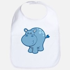 Cute cartoon animal hippo Bib