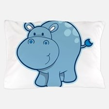 Cute cartoon animal hippo Pillow Case
