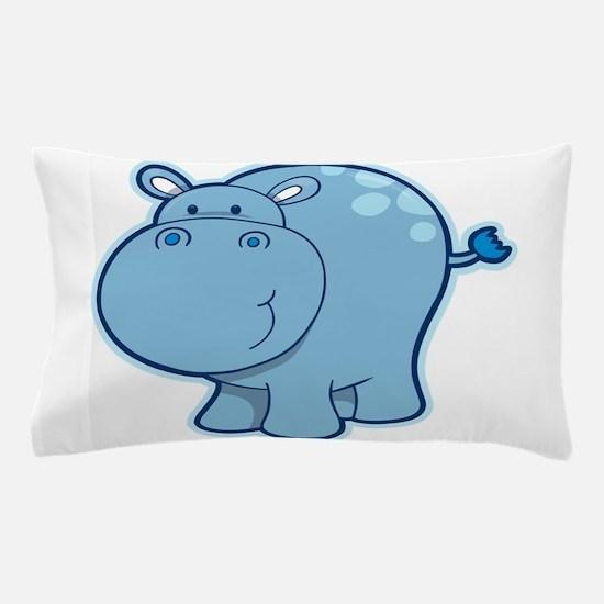 Cute cartoon animal hippo Pillow Case