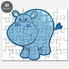 Cute cartoon animal hippo Puzzle