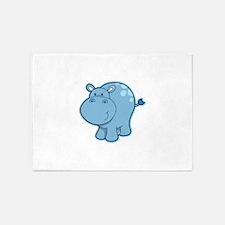 Cute cartoon animal hippo 5'x7'Area Rug