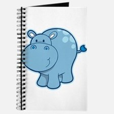 Cute cartoon animal hippo Journal