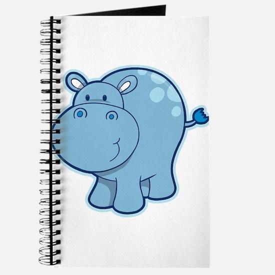 Cute cartoon animal hippo Journal