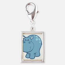 Cute cartoon animal hippo Charms