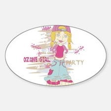 Girl Party Oval Decal