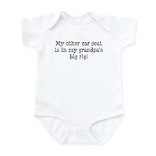 Carseat in Grandpas Big Rig Infant Bodysuit