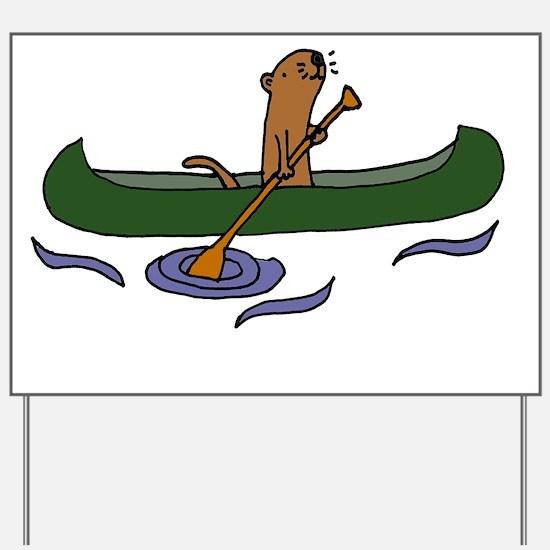 Unique Sea otter Yard Sign