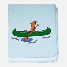Sea Otter Canoeing baby blanket