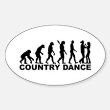 Evolution country dance Sticker (Oval)