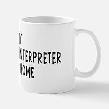 Left my Sign Language Interpr Mug
