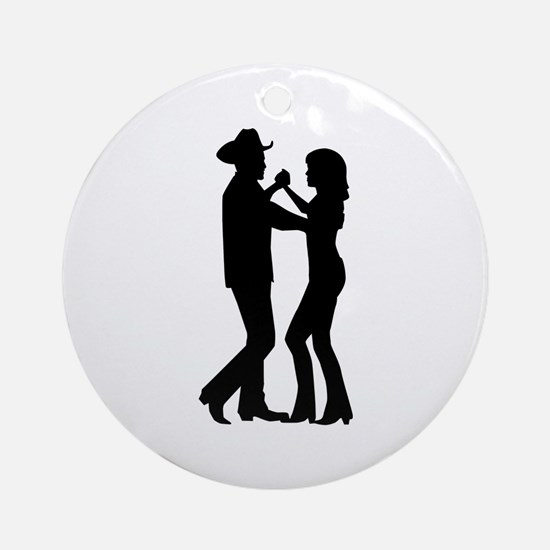 Country dancing Round Ornament