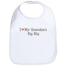 Love My Grandpas Big Rig Bib