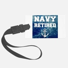 Navy Retired Luggage Tag
