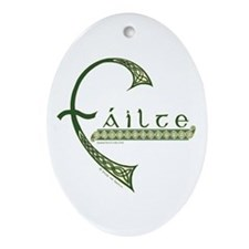 Failte Design Oval Ornament