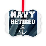Retired navy Picture Frame Ornaments