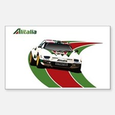 Unique Rally car Sticker (Rectangle)
