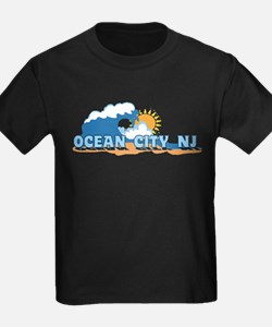 Ocean City NJ - Waves Design T-Shirt