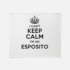 I can't keep calm Im ESPOSITO Throw Blanket