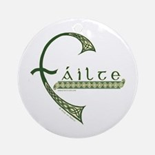 Failte Design Ornament (Round)
