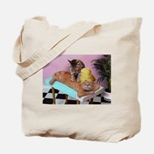 Funny Cat Massage Tote Bag