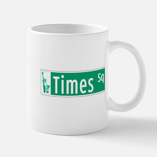Times Sq with Statue of Liberty Sign, N Mug