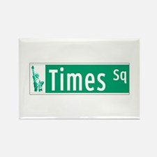 Times Sq with Statue of Liberty S Rectangle Magnet