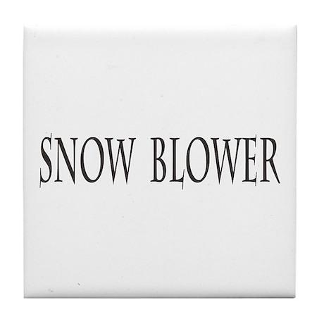 Snow Blower Tile Coaster